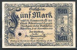 433-Altenburg 5 Et 10m 1918 Percés - [11] Emissions Locales