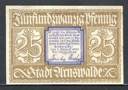 433-Arnswalde 25 Et 50pf 1920 - [11] Emissions Locales