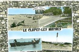 CPM - LE CLAPET-LES-MATHES - LA CÔTE SAUVAGE - LE CARREFOUR - PÊCHE EN MER - LE PHARE - Les Mathes