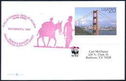 US Postcard California Gold Rush Redwood City, CA DEC 6, 1998 (91-714) - Minéraux