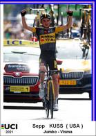 Sepp  Kuss  .Cyclisme 2021 - 1 Cards Aux Choix Format Carte Postal  (1) - Unclassified