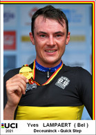 Yves  Lampaert  .Cyclisme 2021 - 1 Cards Aux Choix Format Carte Postal  (1) - Unclassified