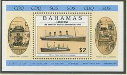 BAHAMAS / MiNr. Block 79 / 100. Jahrestag Der Erfindung Der Drahtlosen Telegrafie Durch Guglielmo Marconi / Postfrisch - Ships