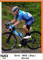 Emric  Mas  .Cyclisme 2021 - 1 Cards Aux Choix Format Carte Postal  (2) - Unclassified