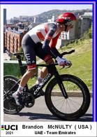 Brandon   McNulty  .Cyclisme 2021 - 1 Cards Aux Choix Format Carte Postal  (2) - Unclassified