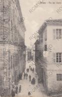 CARTOLINA  OSIMO,ANCONA,MARCHE,VIA DEL CORSO,BELLA ITALIA,MEMORIA,CULTURA,STORIA,IMPERO,VIAGGIATA 1918 - Ancona