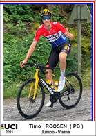 Timo Roosen  .Cyclisme 2021 - 1 Cards Aux Choix Format Carte Postal  (1) - Unclassified