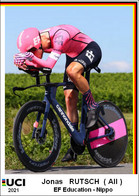 Jonas Rutsch  .Cyclisme 2021 - 1 Cards Aux Choix Format Carte Postal  (2) - Unclassified