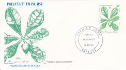 POLYNéSIE FRANçAISE UN LOT DE 9 ENVELOPPES FDC  1986/87/88 - Heilpflanzen