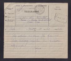 """DDZ 909 - Télégramme PORTO """"via Rs= Elt"""" Vers Edicabel à BOIRS - Cachets Postal Et Télégraphique VISE 1947 - Telegraph"""