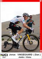 Jonas   Vingegaard   .Cyclisme 2021 - 1 Cards Aux Choix Format Carte Postal  (3) - Unclassified
