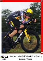 Jonas   Vingegaard   .Cyclisme 2021 - 1 Cards Aux Choix Format Carte Postal  (4) - Unclassified