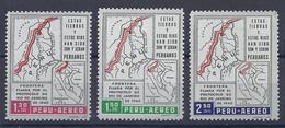 210039938  PERU.  YVERT   AEREO  Nº   169/171  **/MNH - Peru