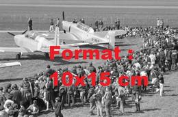 Reproduction D'une Photographie Ancienne D'avions D'entrainement De L'armée Aérodrome De Birrfeld En Suisse 1968 - Reproductions