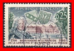 FRANCIA – TIMBRES. AÑO 1966 - 200 ANIVERSARIO DE LA UNION DE LORAINE Y BARROIS CON FRANCIA - Usati
