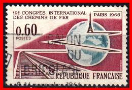 FRANCIA – TIMBRES. AÑO 1966 - 19 CONGRESO INTERNACIONAL DEL FERROCARIL PARIS - Usati