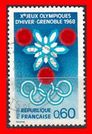 FRANCIA – TIMBRES. AÑO 1967 - GRENOBLE JUEGOS OLIMPICOS DE INVIERNO - Usati