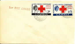Gambia FDC 2-9-1963 RED CROSS Complete Set Of 2 - Gambia (...-1964)