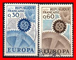 FRANCIA – TIMBRES. AÑO 1967 - EUROPA - Usati