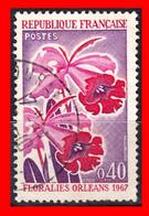 FRANCIA – TIMBRES. AÑO 1967 - ORLEANS FLORES - Usati