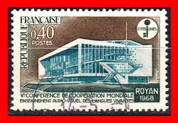 FRANCIA – TIMBRES. AÑO 1968 – CONFERENCIA MUNDIAL DE IDIOMAS DE COOPERACION - ROYAN - Usati