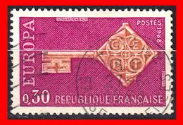 FRANCIA – TIMBRES. AÑO 1968 – EUROPA - Usati