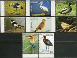 JORDAN 2014 Migratory Birds Crane Pelican Duck Ducks Buzzard Ibis Animals Fauna MNH - Patos