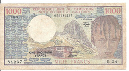 CAMEROUN 1000 FRANCS 1978 VG++ P 16 C - Cameroon