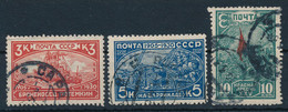 SOWJETUNION / RUSSLAND  -  1930  ,  25. Jahrestag Der Revolution Von 1905  -  Michel  394Ax-396Ax - Gebruikt