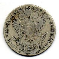 AUSTRIA, 20 Kreuzer, Silver, Year 1805-C, KM #2140 - Austria