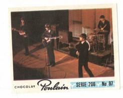 IMAGE CHROMO CHOCOLAT POULAIN Série 206 MUSIQUE LES BEATLES => Image N° 97 ARTISTE CHANTEUR CELEBRITE ROYAUME UNI - Poulain