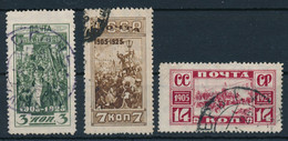 SOWJETUNION / RUSSLAND  -  1925  -  Michel  302Cx,303Ax,304Cy - Gebruikt