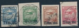 SOWJETUNION / RUSSLAND  -  1924  -  Flugpostmarken  -  Michel  267,268 I, 269/70 - Gebruikt