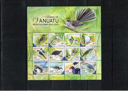 Vanuatu 2012 Birds Kleinbogen / Sheet Postfrisch / MNH - Sperlingsvögel & Singvögel