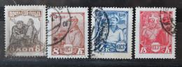 RUSSIE 1927-1928 YVERT 388/412/413/414 - Gebruikt