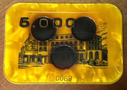 01 DIVONNE-LES-BAINS CASINO PLAQUE DE 5.000 FRANCS N° 0069 JETON CHIP TOKENS COINS GAMING - Casino