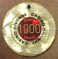 01 DIVONNE-LES-BAINS JETON DE CASINO DE 1.000 FRANCS N° 0136 CHIP TOKENS COINS - Casino