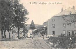 Foncine Le Bas Rue De La Gare Rails Tramway éd Jouffroy 5 - Altri Comuni