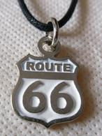 ROUTE 66 Pendentif Métal Avec Cordon Réglable - Pendants