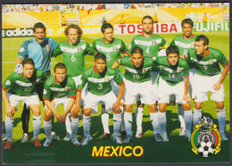 FOOTBALL-MEXICO/NATIONAL TEAM-OLD RUSSIAN CARD - Soccer