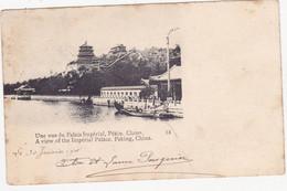 48494 -   Chine    Pékin  Une  Vue  Du Palais Impérial  -  2  Scans - China