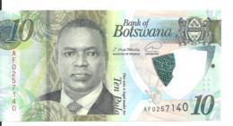 BOTSWANA 10 PULA ND2020 UNC P 36 - Botswana
