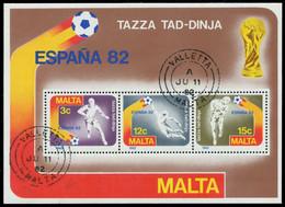 MALTA Block 7 Zentrisch Gestempelt X7F4BF2 - Malta