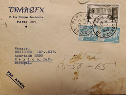 J) 1948 FRANCE, MARIANNE, TRANSEX, MULTIPLE STAMPS, AIRMAIL, CIRCULATED COVER, FROM FRANCE TO MEXICO - Zonder Classificatie