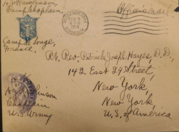 J) 1919 FRANCE, POSTCARD, CIRCULATED COVER, FROM FRANCE TO NEW YORK - Zonder Classificatie
