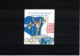 Romania 1995 Olympic Games Atlanta - Preolympic Games Block Postfrisch / MNH - Verano 1996: Atlanta
