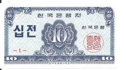 COREE DU SUD 10 JEON 1962 UNC P 28 - Korea, South