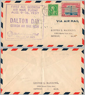 USA Cover - U.S. Air Mail First Flight - 123 - 1a. 1918-1940 Used