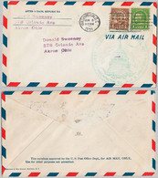 USA Cover - U.S. Air Mail First Flight - 125 - 1a. 1918-1940 Used
