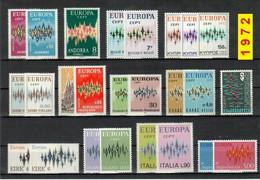 Europa CEPT 1972 Annata COMPLETA 46 Fbolli Nuovi **/MNH - 1972